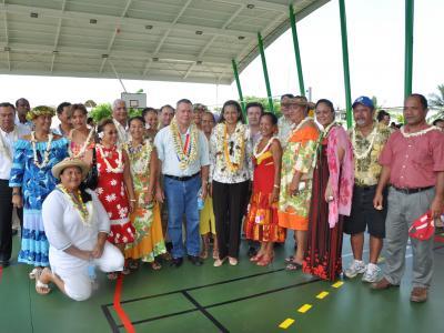Inauguration plateau sportif MANOTAHI