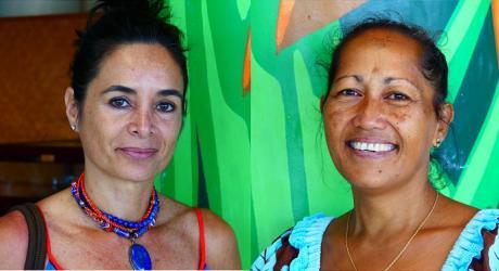 Vaea Garbutt (à gauche) et Ritia Tereopa (à droite)